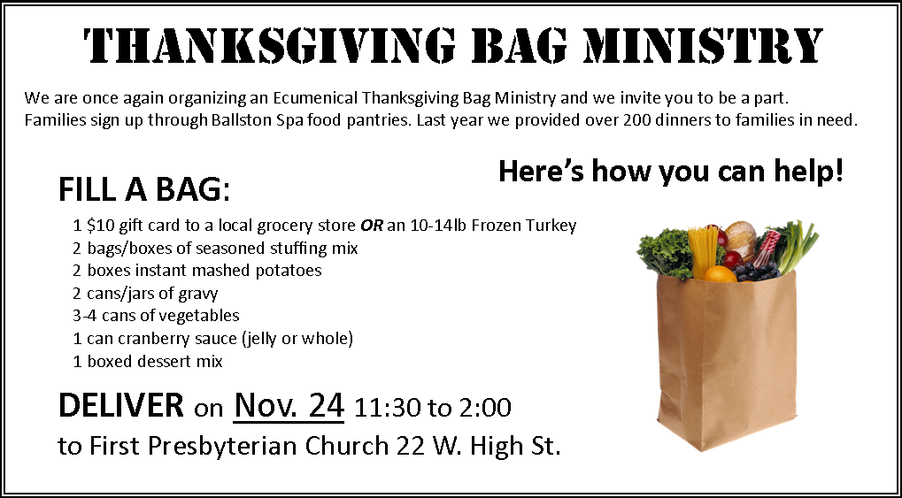 Thanksgiving Bag Ministry